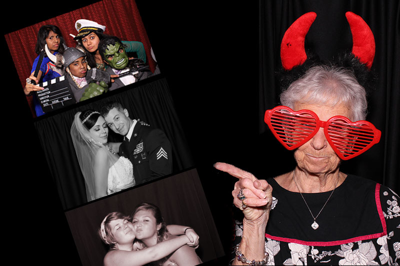 hd color, black and white, photo strips in all booth packages