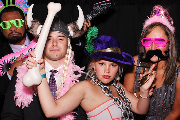 photo booth picture at chase bank tower event in oklahoma city, oklahoma. The kids were from OU Norman Kappa Alpha Theta