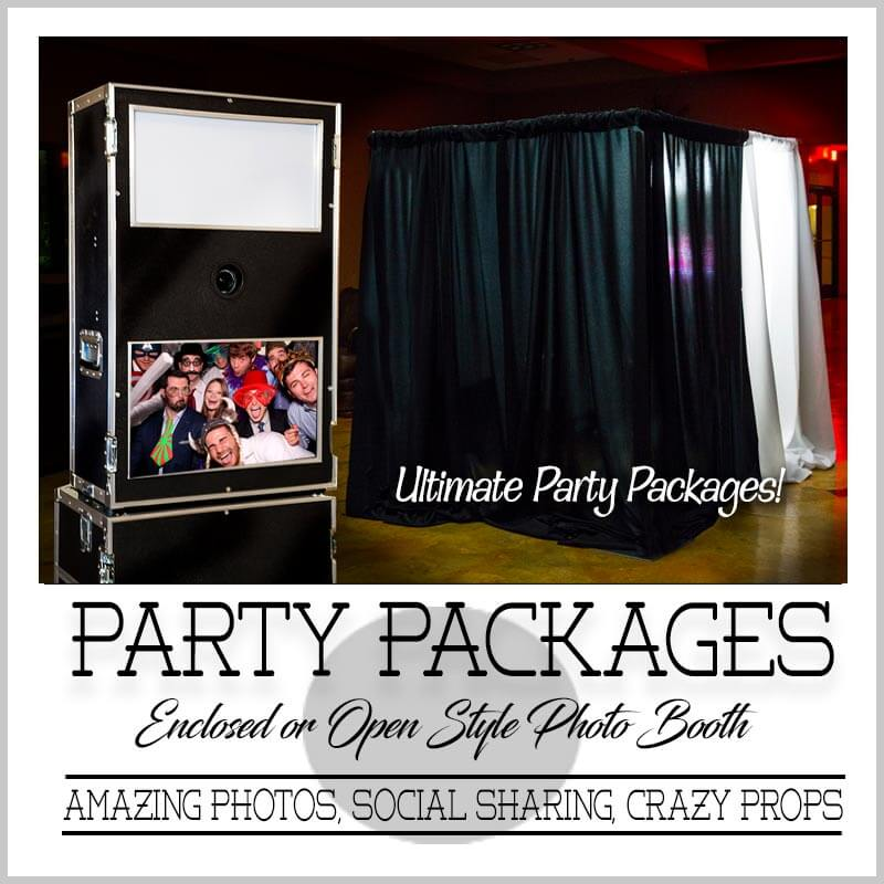 Party photo booth packages best deals and cheap prices.
