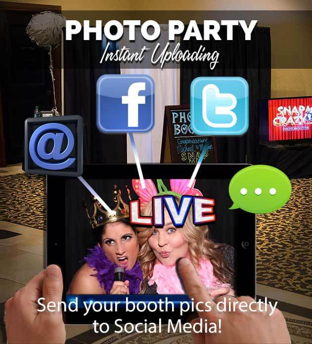 photo booth social media with every photo booth rental in oklahoma city, edmond, norman , okc, yukon, stillwater, enid, all of oklahoma.